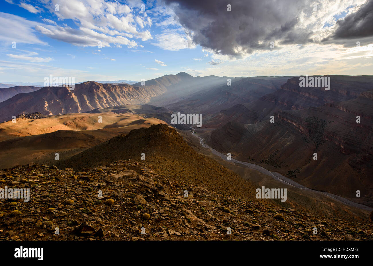 Canyons of the High-Atlas, Morocco - Stock Image