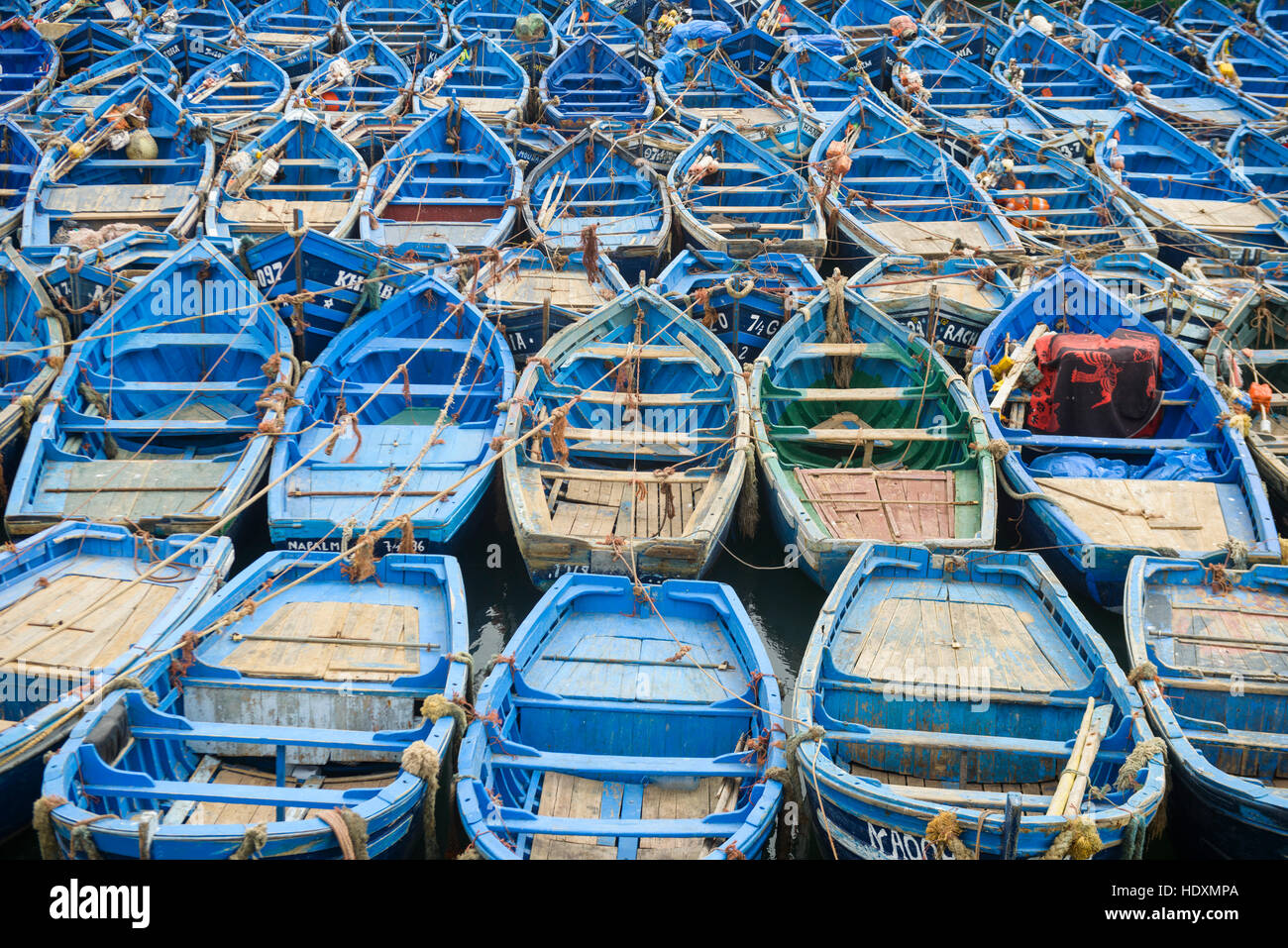 Boat parking, Essaouira, Morocco - Stock Image