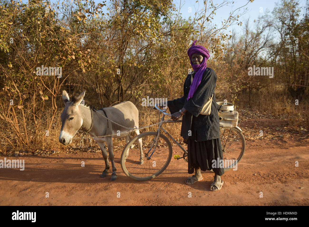 A man from the Peul ethnic group of The Gambia - Stock Image