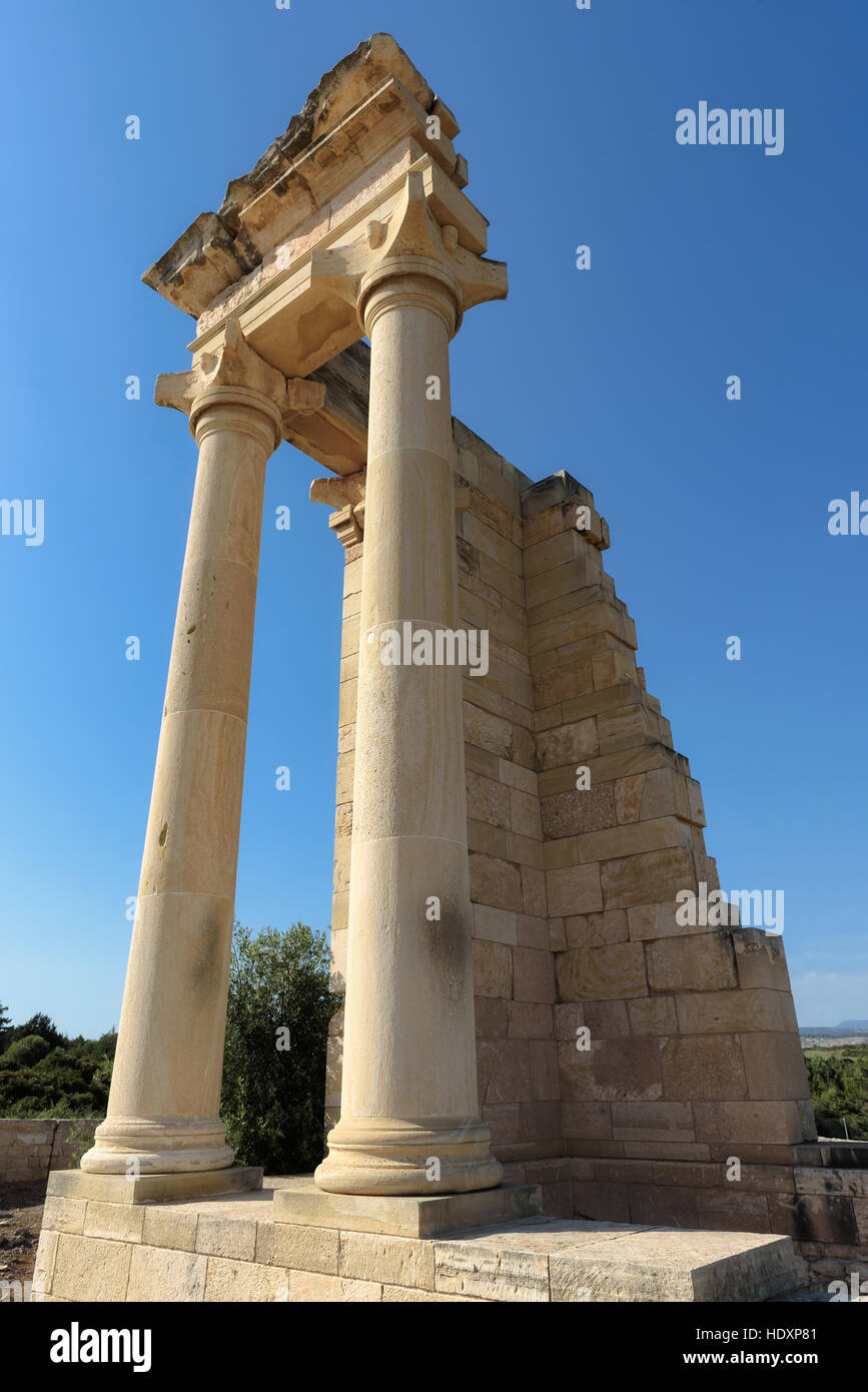 Ruins of the ancient Apollo Hylates sanctuary and temple, Cyprus - Stock Image