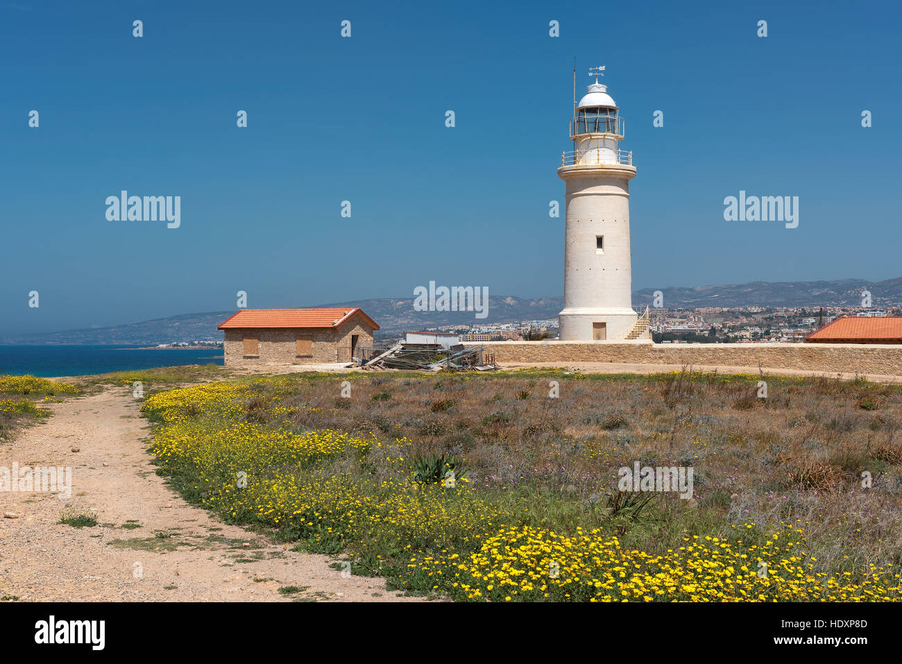 Old lighthouse in Paphos, Cyprus. - Stock Image