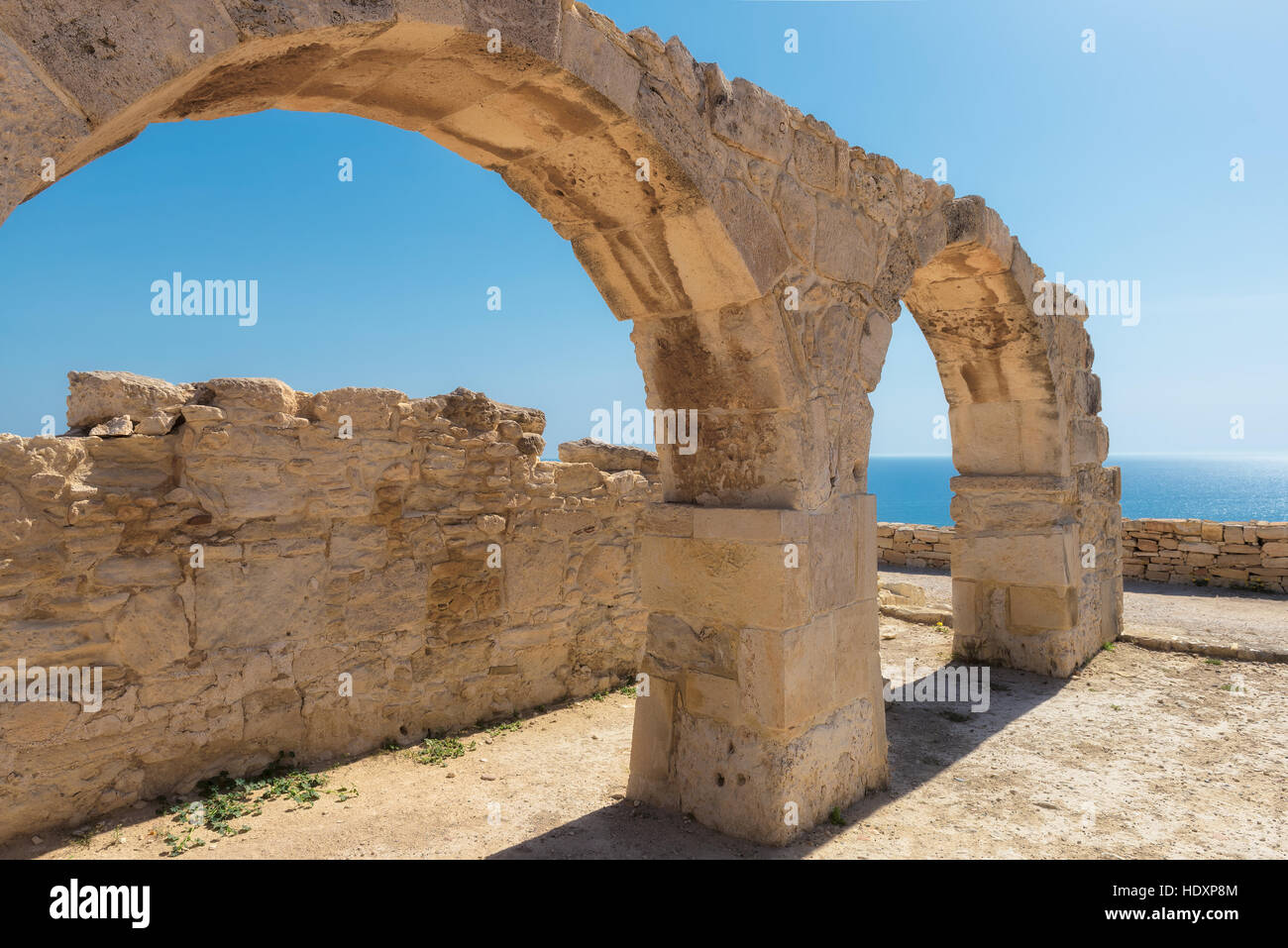 Ancient arches ruin city of Kourion near Limassol, Cyprus - Stock Image