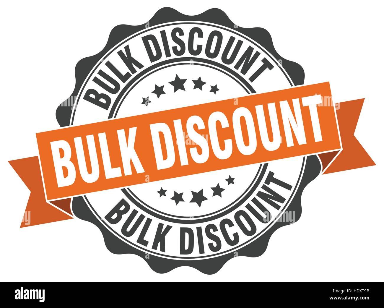 bulk discount stamp sign seal stock vector art illustration