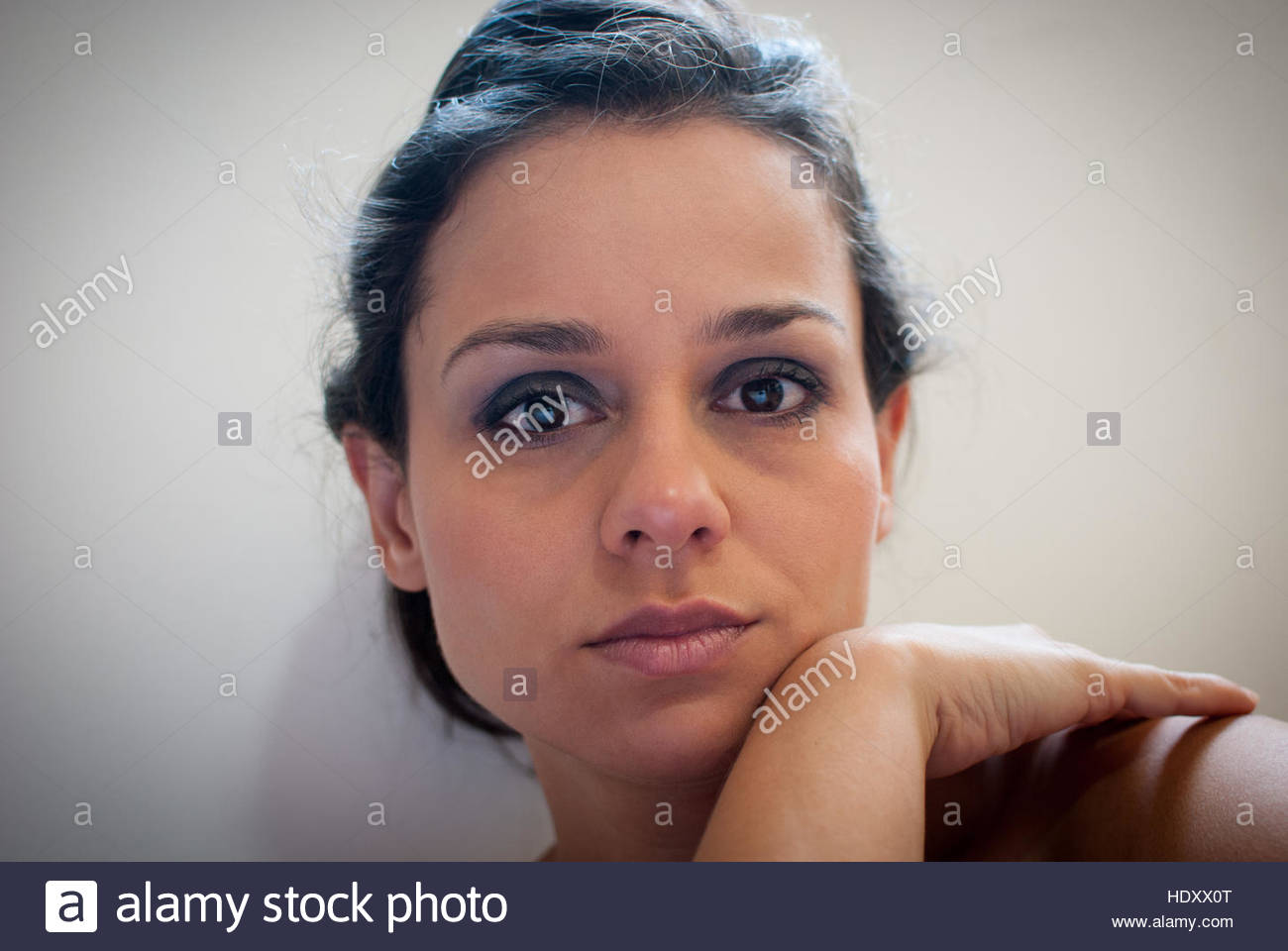woman stares - Stock Image