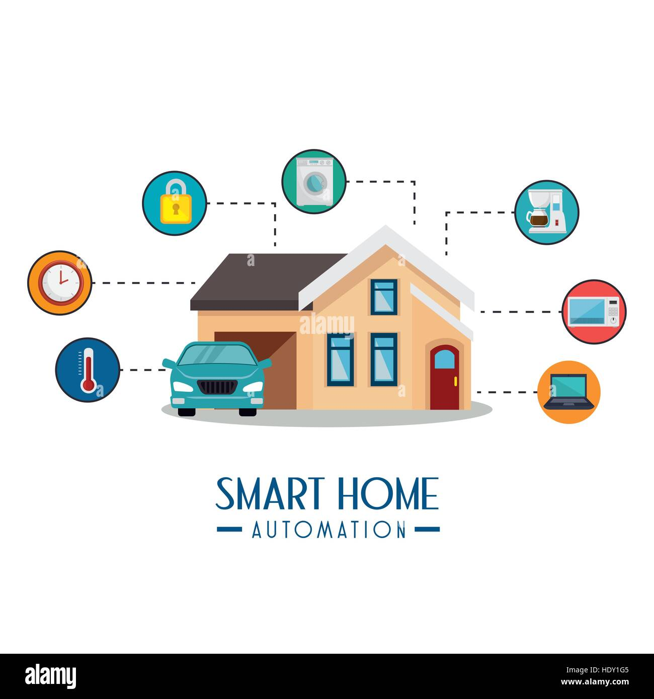 smart home automation tech vector illustration design Stock Vector ...