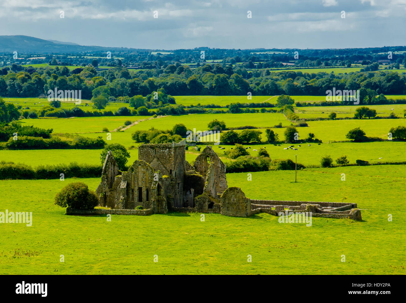 Castle Ruin In Landscape Of Tipperary In Ireland - Stock Image