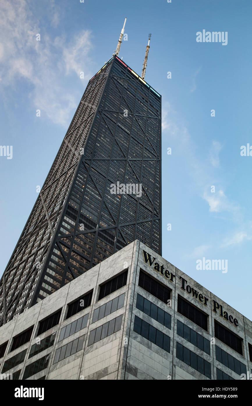 875 N. Michigan Avenue, formerly known as Hancock Tower Center and Water Tower Place, Chicago, Illinois USA - Stock Image