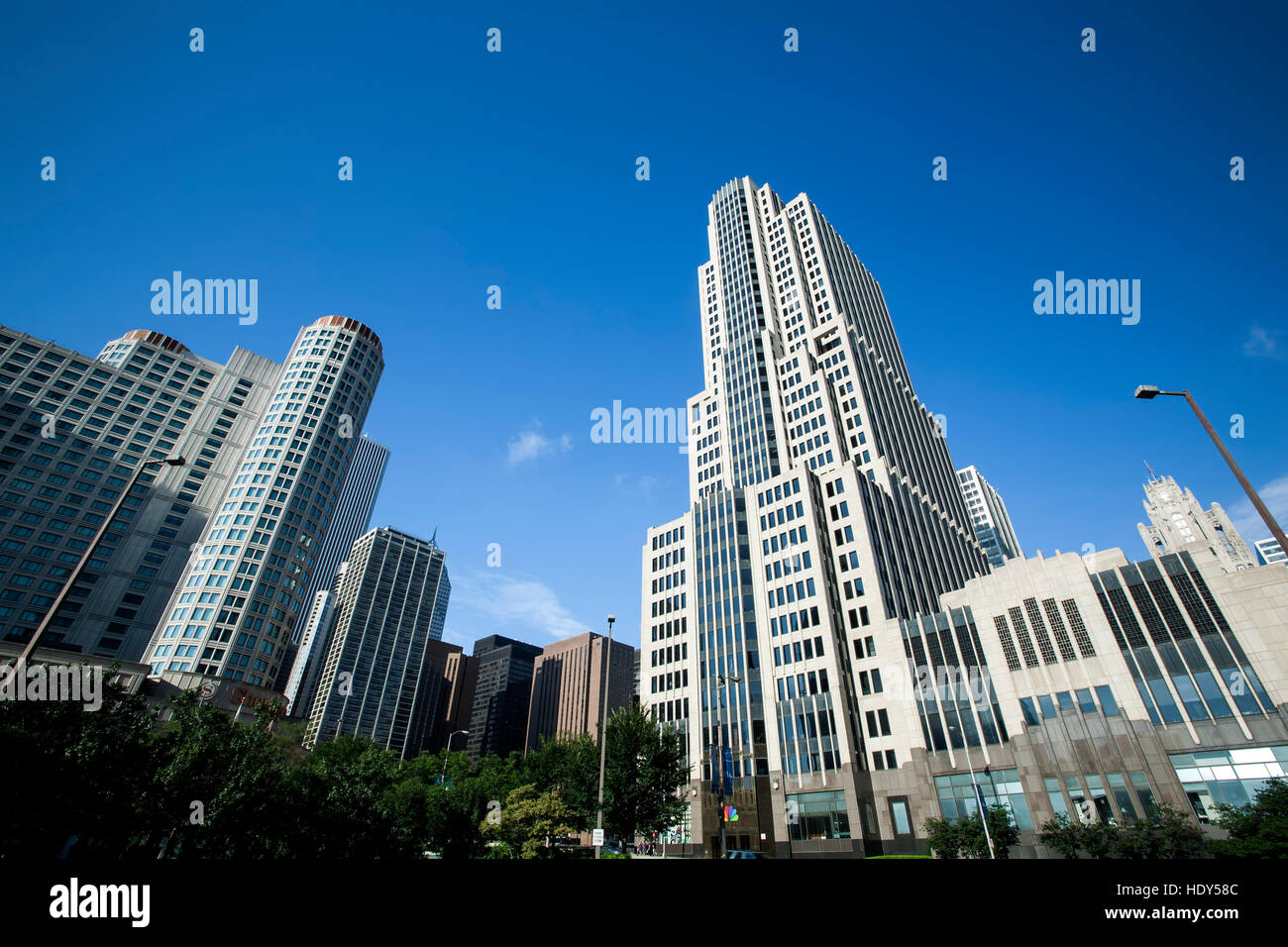 NBC Tower (R), Chicago, Illinois USA - Stock Image