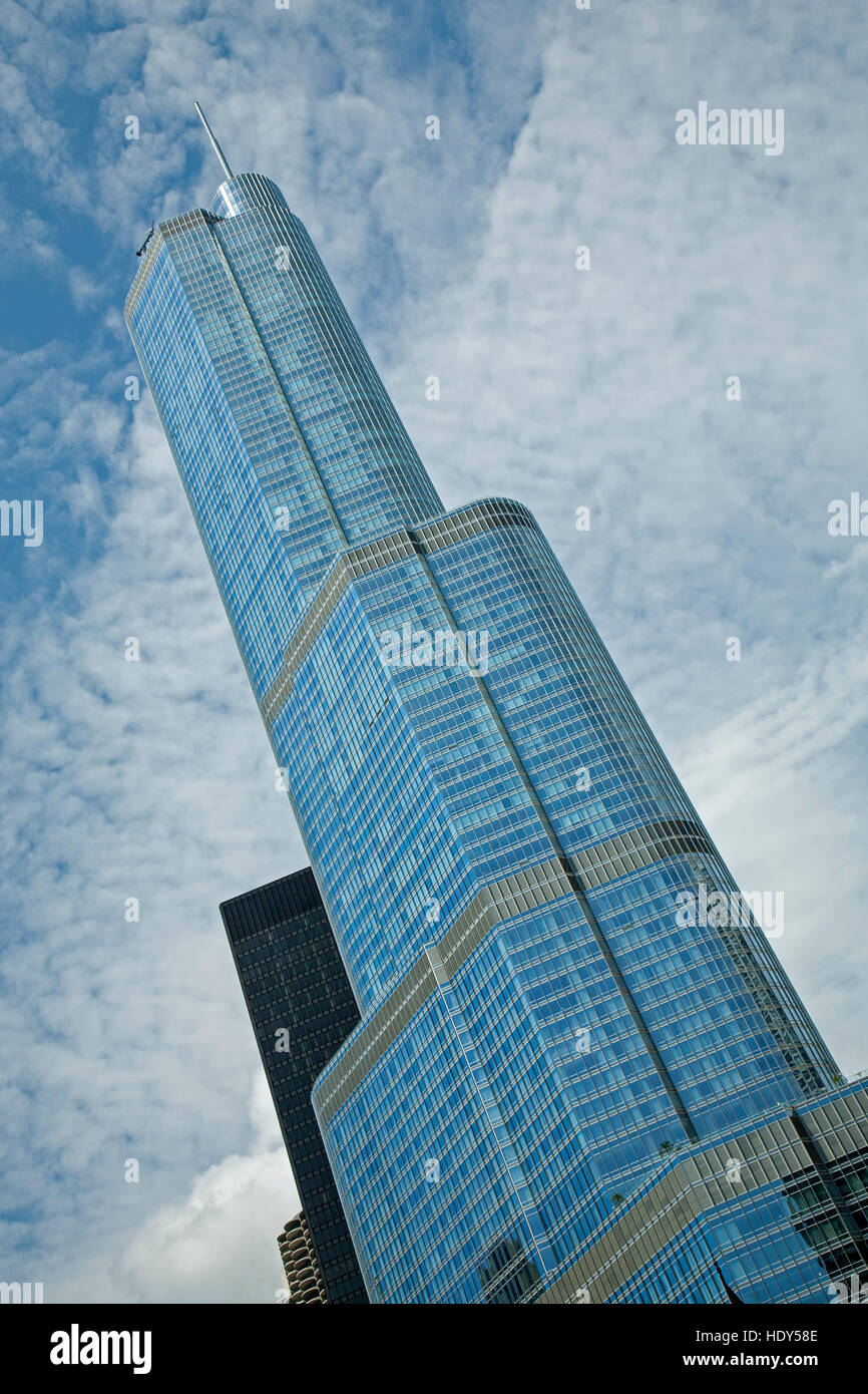 Trump Tower, Chicago, Illinois USA - Stock Image