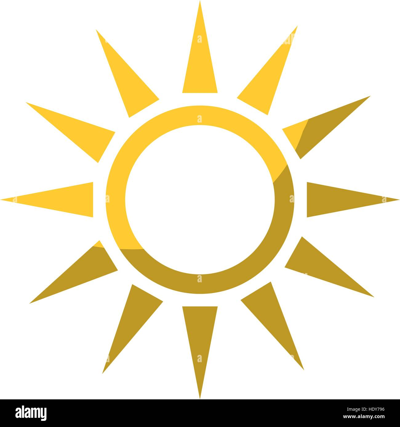 sun shape icon - Stock Image