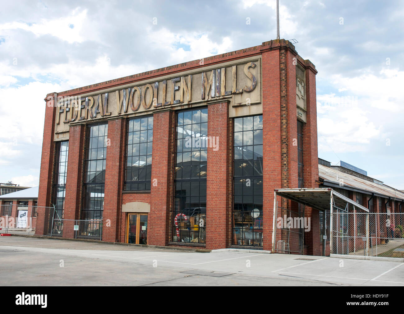 The former Federal Woollen Mills in Geelong, Victoria, Australia -- now converted to a popular antique mall. - Stock Image