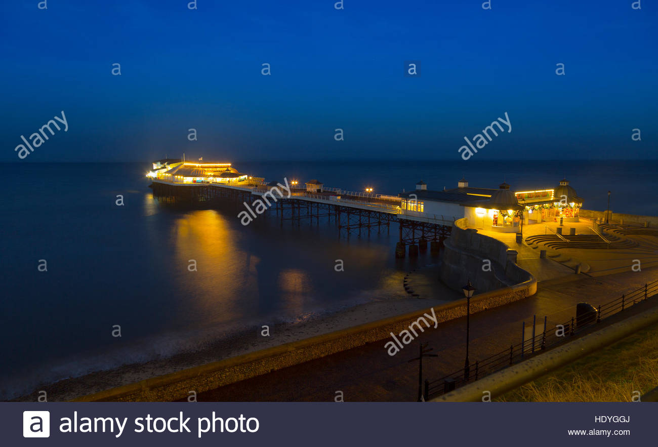 Cromer Pier Norfolk at Christmas - Stock Image