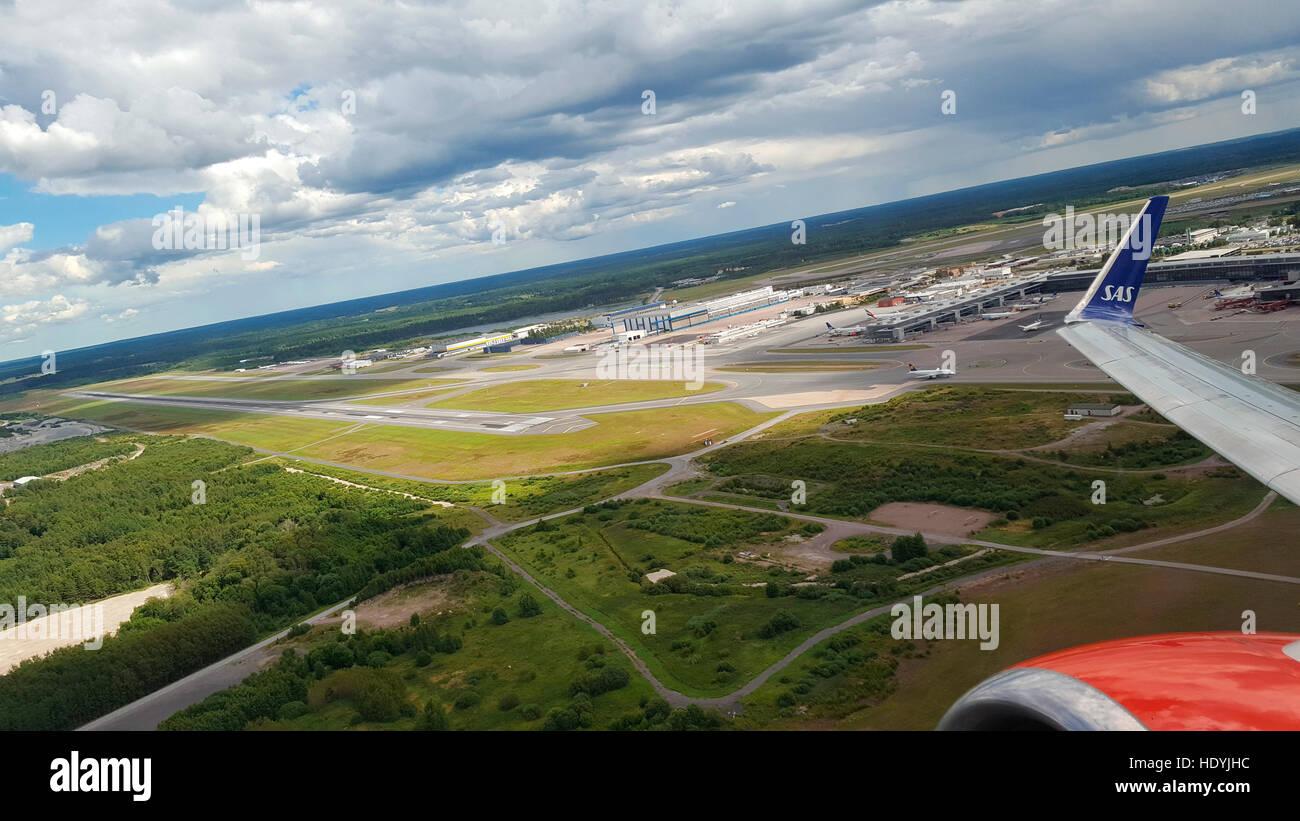 Flughafen Stockholm, Schweden. - Stock Image