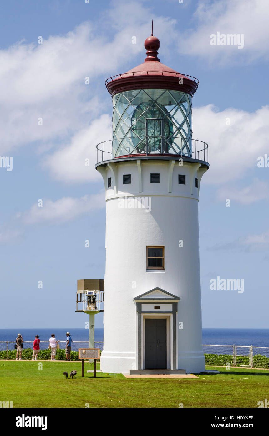 Historic Kilauea Lighthouse on Kilauea Point National Wildlife Refuge, Kauai, Hawaii. - Stock Image