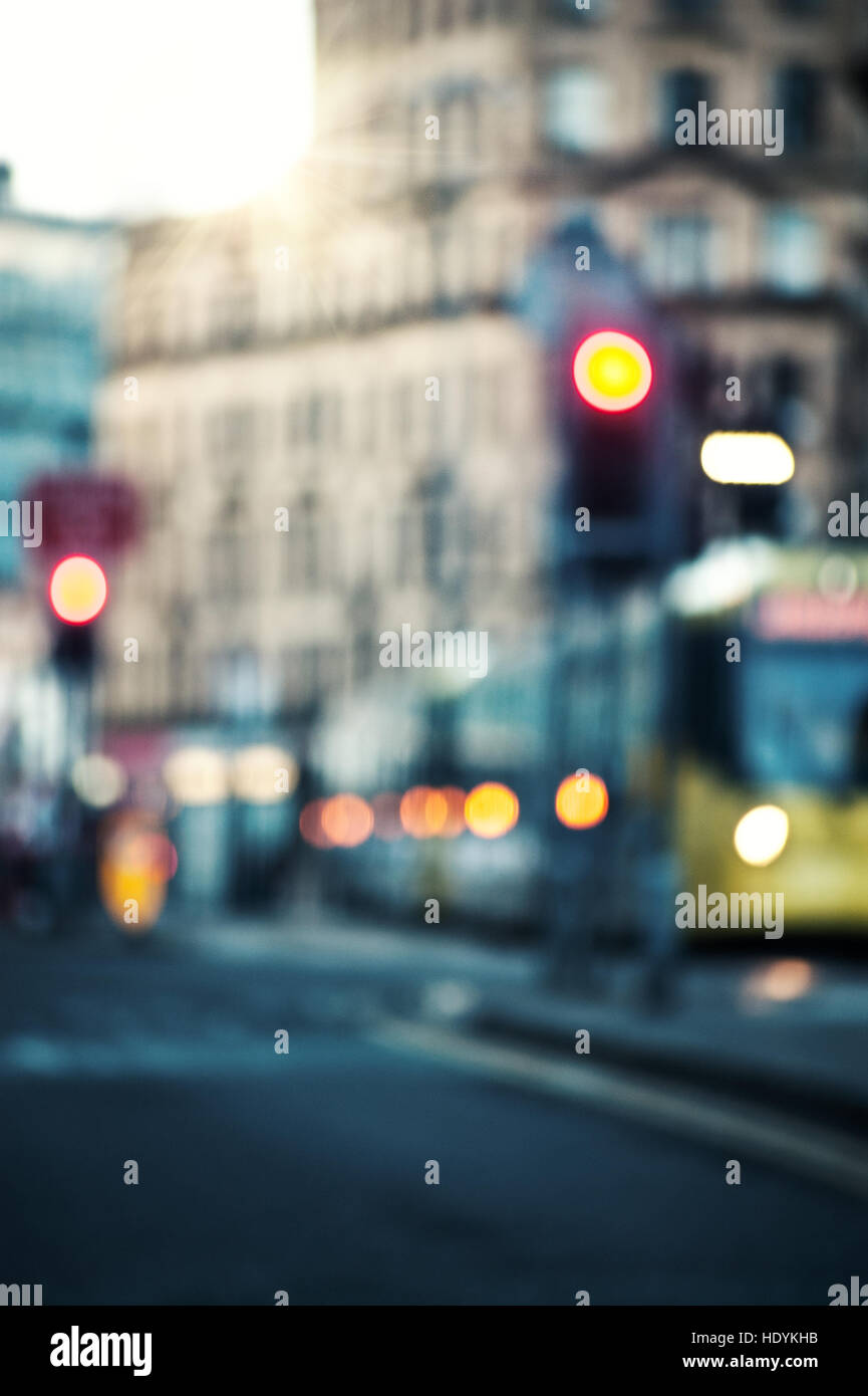 city, cars,art,town,street,busy - Stock Image