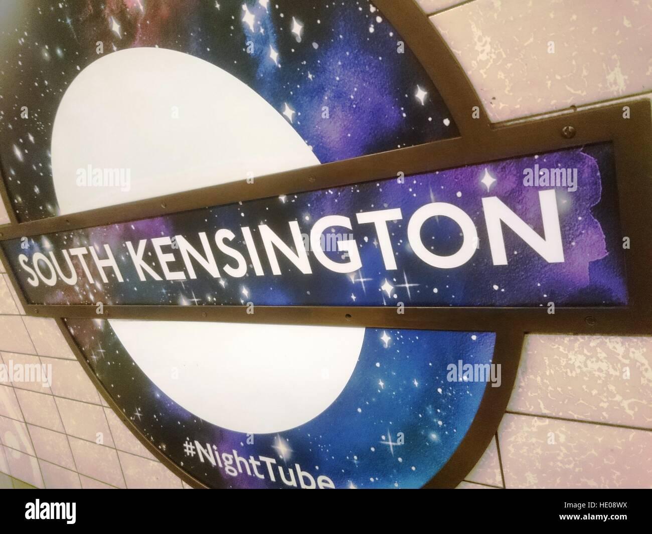 London, UK. 16th Dec, 2016. Night tube service starts to operate on Piccadilly line, London, UK © Nastia M/Alamy - Stock Image