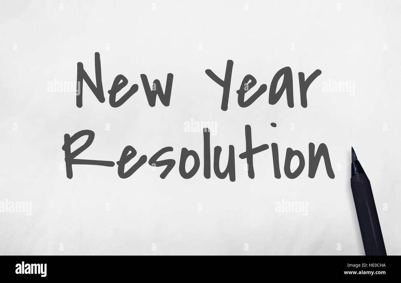 New Year Resolution News Concept - Stock Image