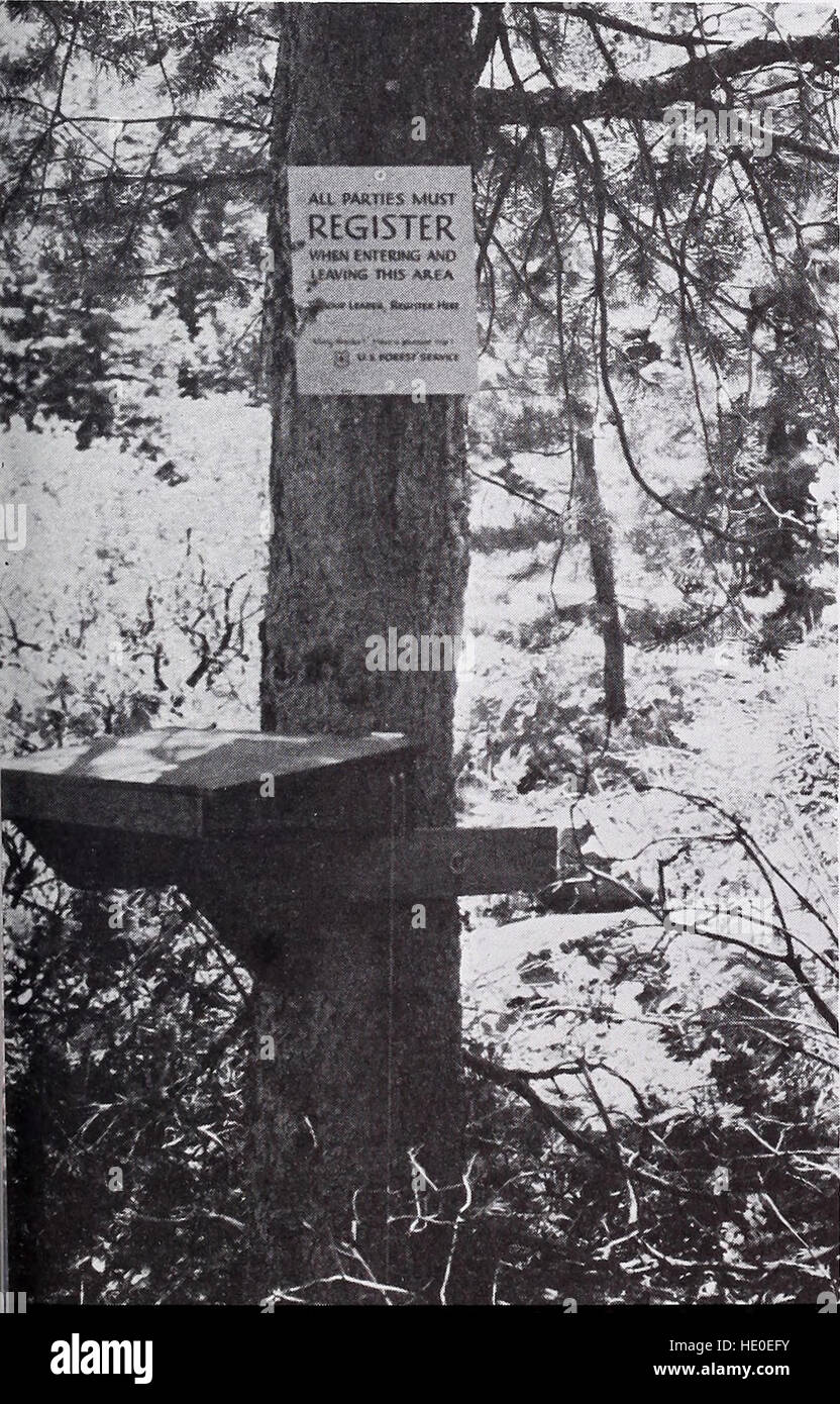 A test of unmanned registration stations on wilderness