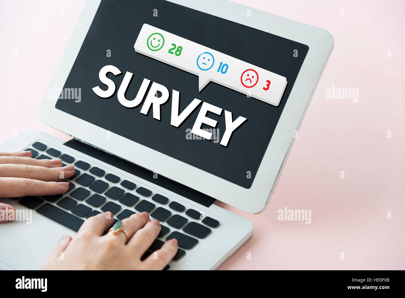 Customer Feedback Emoticons Concept - Stock Image