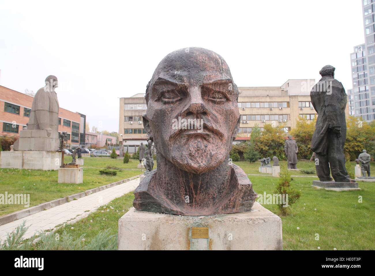 Lenine's statue at the Museum of Socialist Art, Sofia, Bulgaria - Stock Image