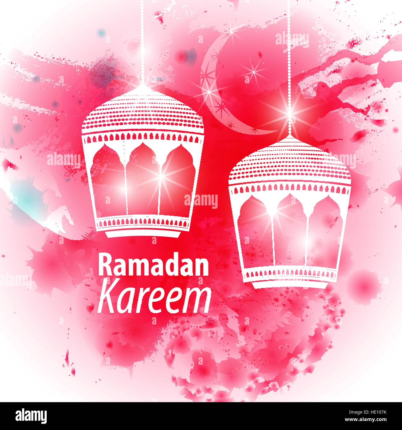 Watercolor pink blob illustration ramadan kareem mubarak beautiful watercolor pink blob illustration ramadan kareem mubarak beautiful islamic stylized lantern traditional greeting card wishes holy month and karim m4hsunfo