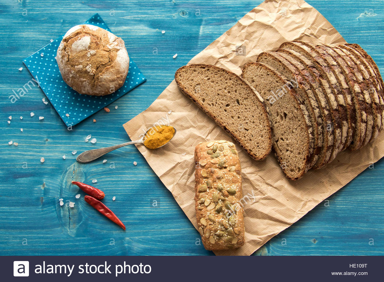Bread sliced cut bread bread loaf bread backgound rustic bread bread overhead detail bread close up brown bread Stock Photo