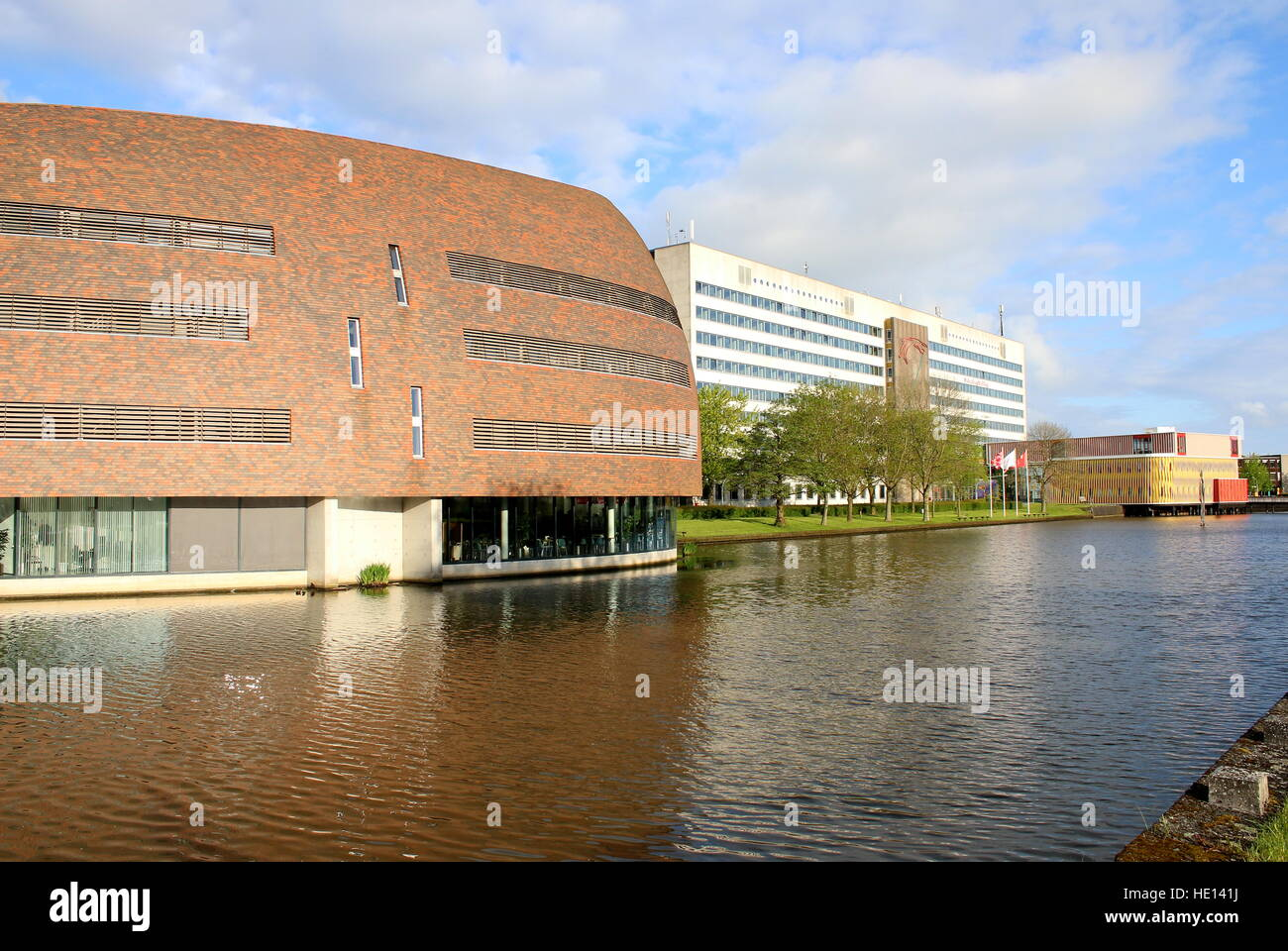 Smitsborg Data Centre at Zernike University campus in Groningen, Netherlands. In Back Duisenberg Building - Economics Stock Photo
