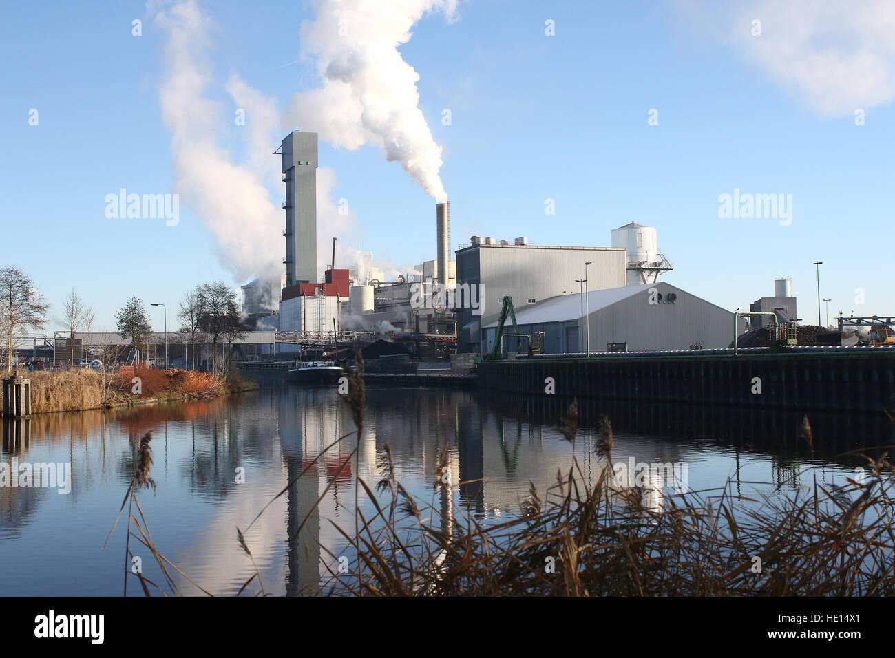 Suiker Unie Sugar (beet) refinery &  processing plant at in Hoogkerk - Vierverlaten, Groningen, Netherlands, - Stock Image