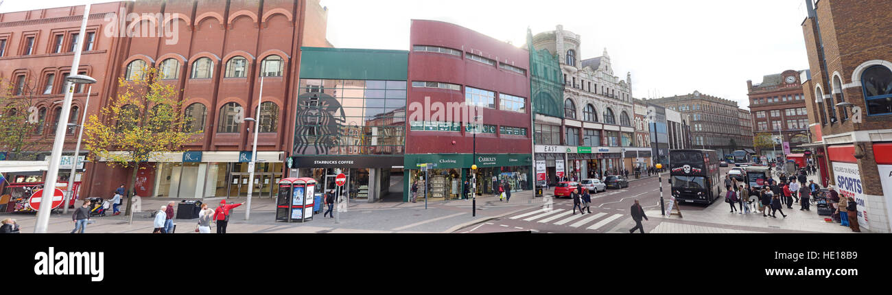 High st panorama, Belfast, Northern Ireland, UK - Stock Image