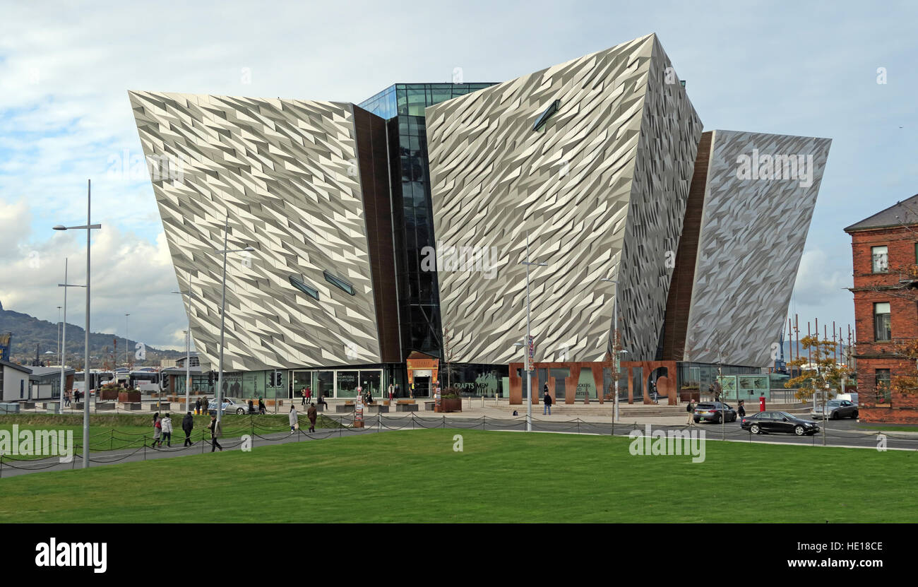 Titanic Museum,Belfast Titanic Quarter, Northern Ireland,UK Stock Photo