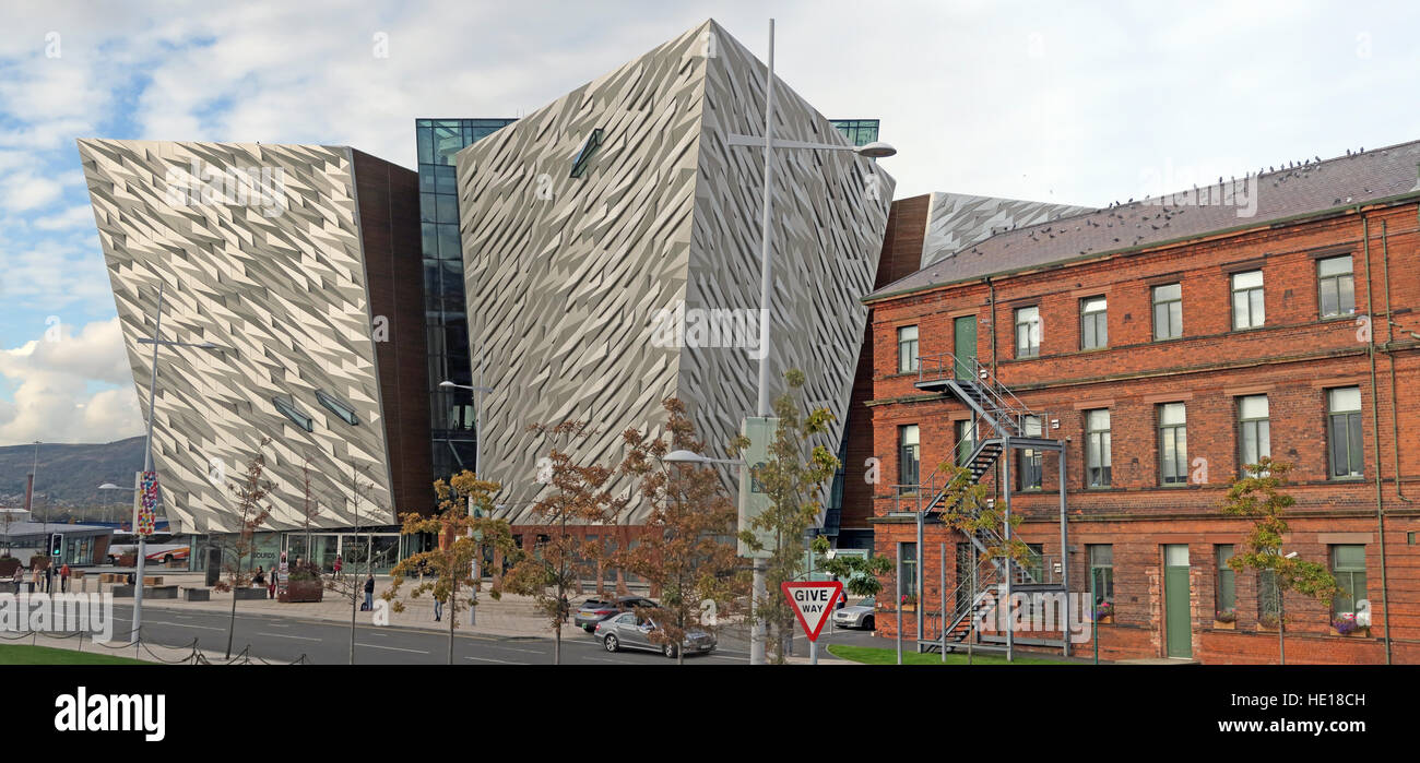 Titanic Museum,Belfast Titanic Quarter, Northern Ireland,UK - Stock Image