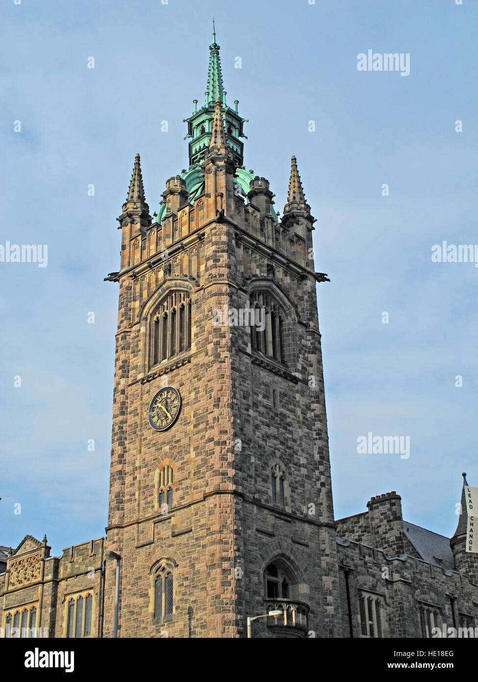 Church House Conference Centre tower,Belfast,NI,UK - Stock Image