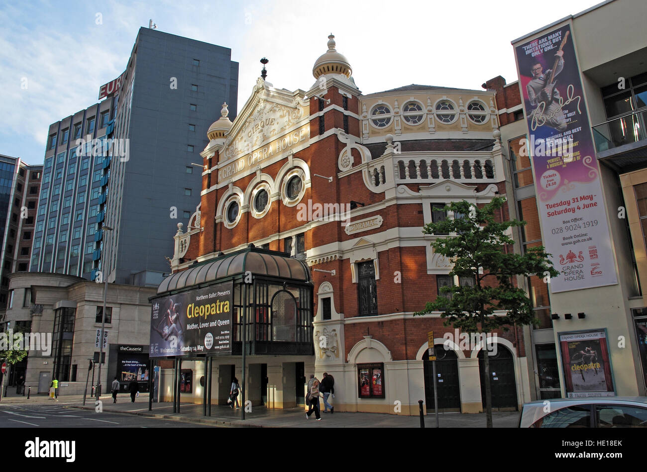 Belfast Grand Opera House,Great Victoria St,Northern Ireland,UK - Stock Image