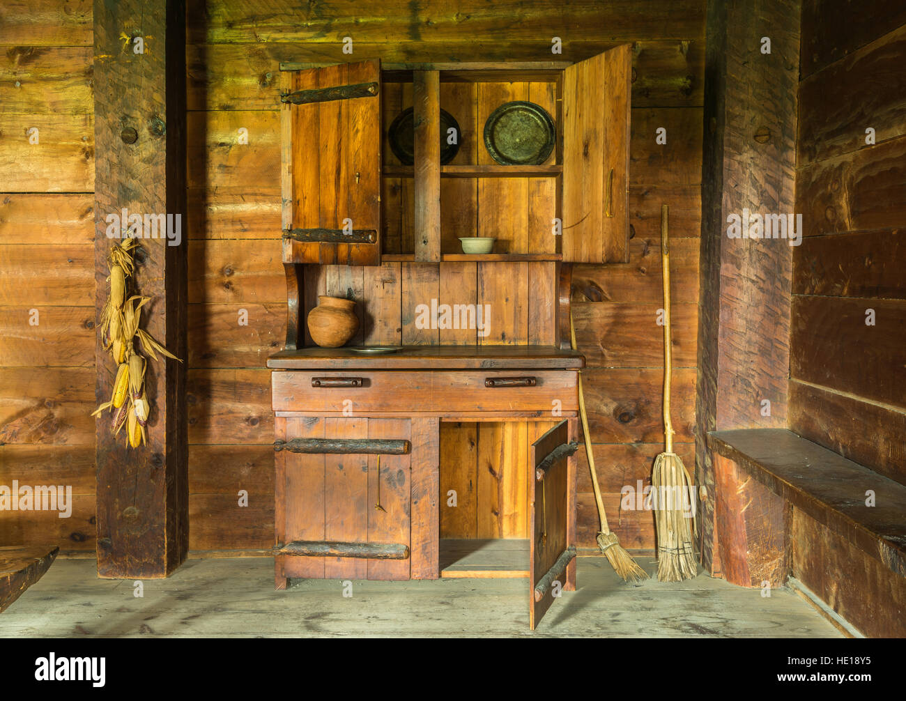 Rustic Pioneer Kitchen - Stock Image