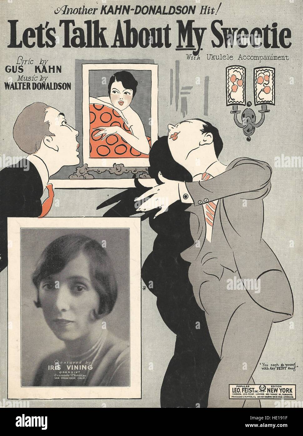 'Let's Talk About My Sweetie' 1925 Sheet Music Cover - Stock Image