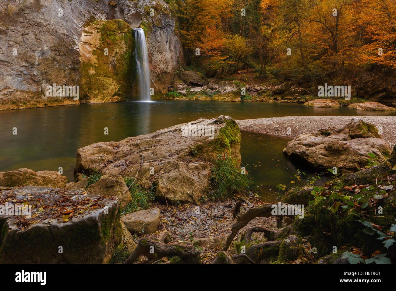 Landscape beautiful autumn nature on the hillside of Kure Mountains in Kastamonu, Turkey - Stock Image