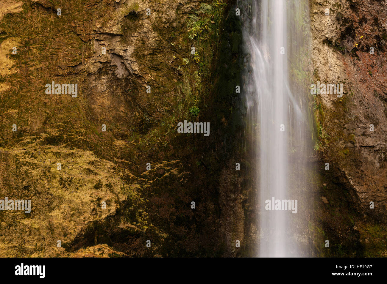 Abstraction from the landscape of Ilica waterfall with beautiful autumn nature of Kure Mountains in Kastamonu, Turkey - Stock Image