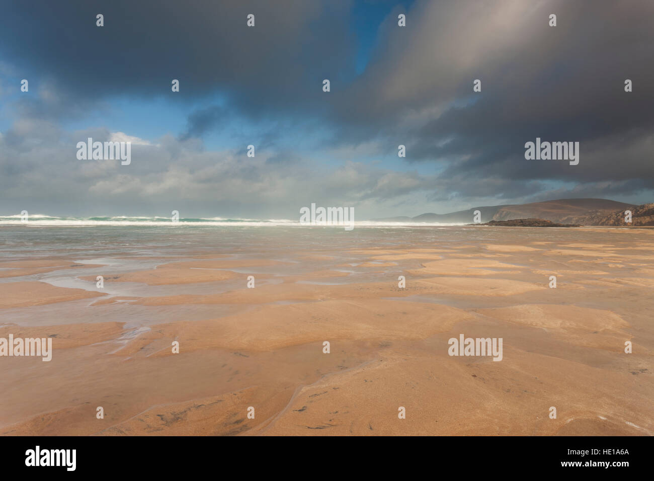 A view from Sandwood Bay, Sutherland, Scotland, UK. - Stock Image