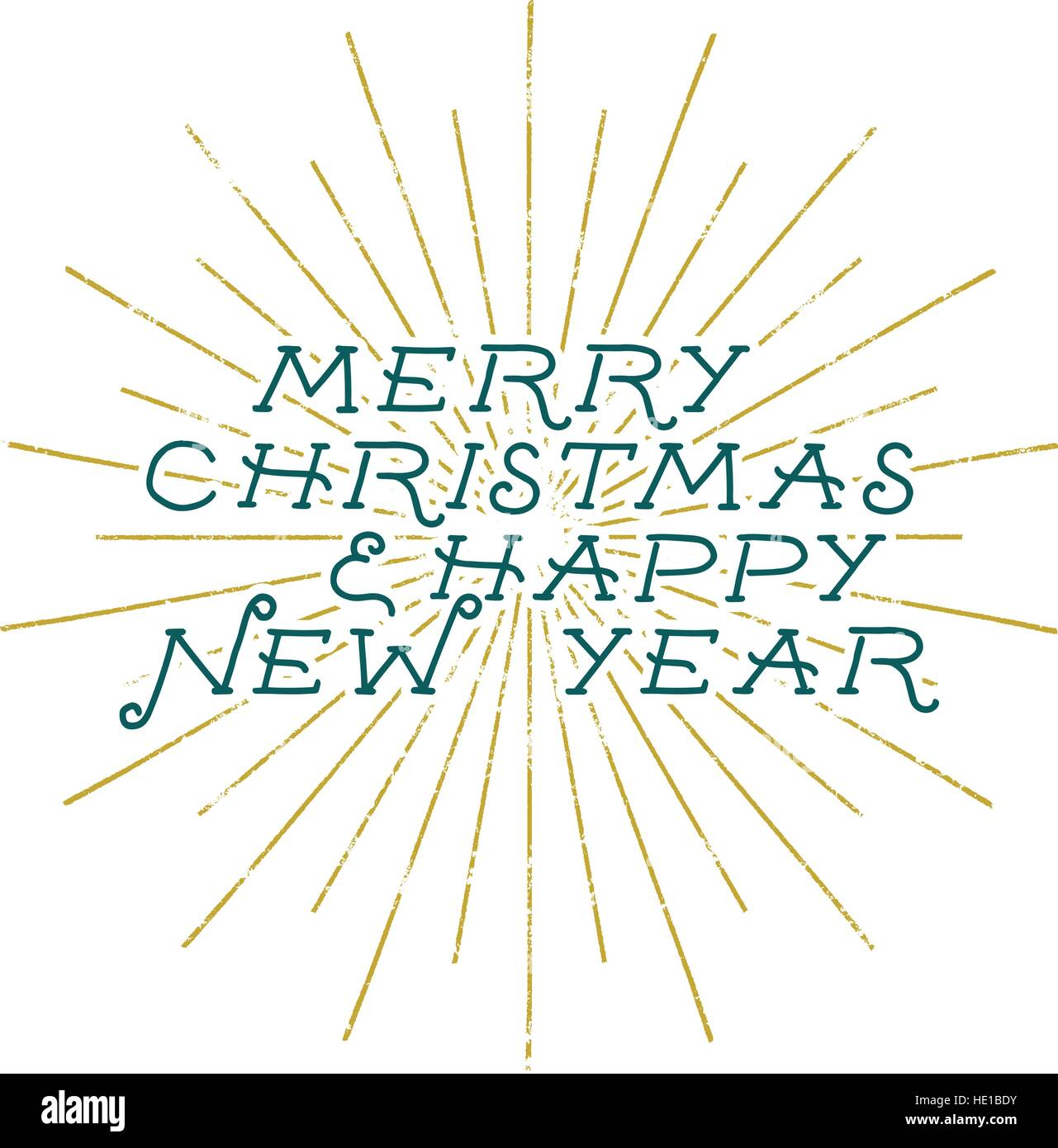 merry christmas and happy new year lettering holiday wish saying and vintage label seasons greetings calligraphy seasonal typography design holi