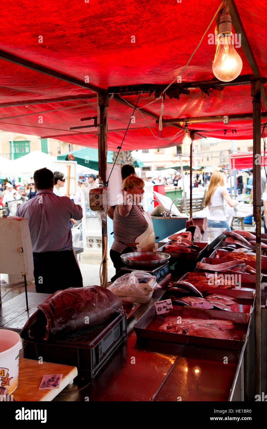 Fresh Fish Market - Stock Image