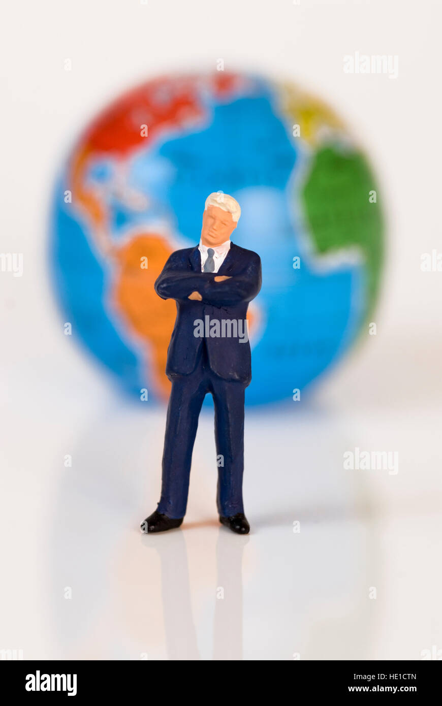 Symbolic picture, global economy, globalised business world - Stock Image