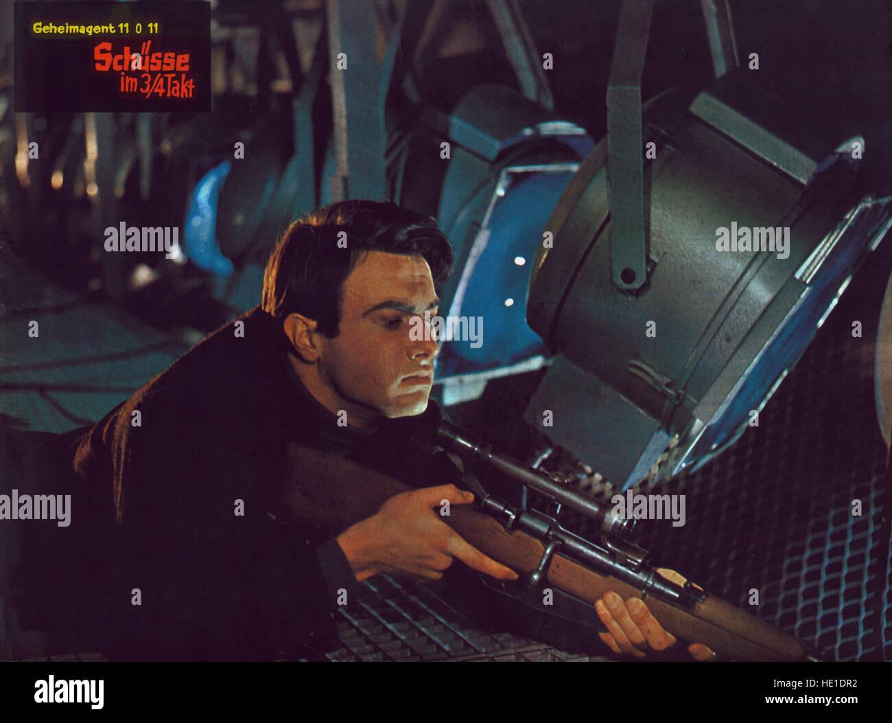 Schüsse im 3/4 Takt, Deutschland/Österreich/Italien 1965, Regie: Alfred Weidenmann, Darsteller: Daniel - Stock Image