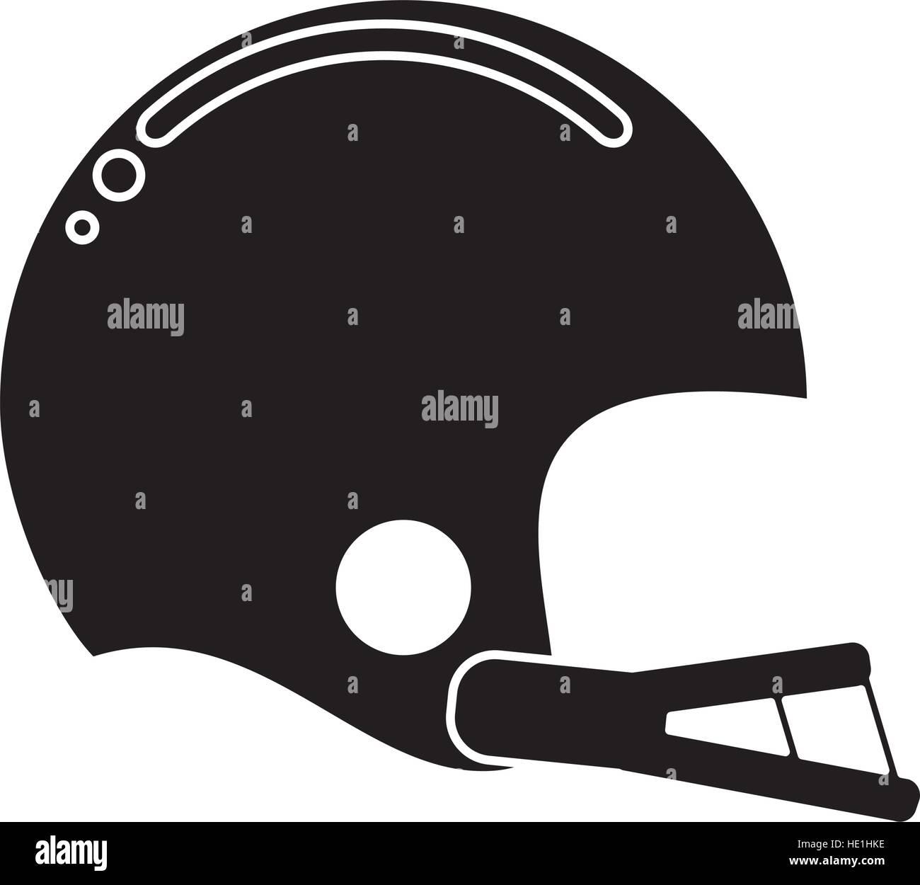 silhouette american football helmet sport vector illustration eps 10 - Stock Vector