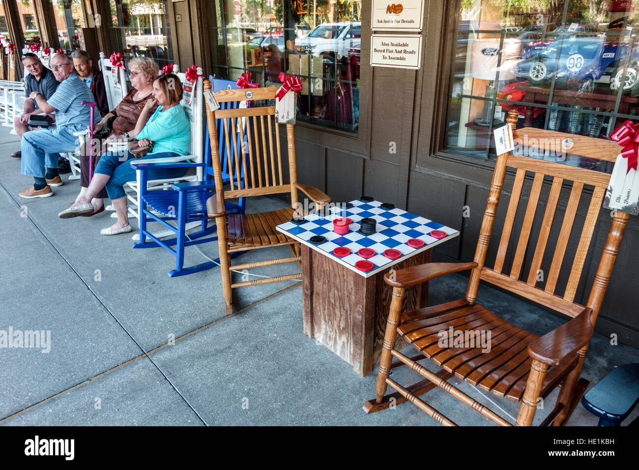 Port Charlotte Florida Cracker Barrel Old Country Store Restaurant Porch Rocking  Chairs Checkers Game Board