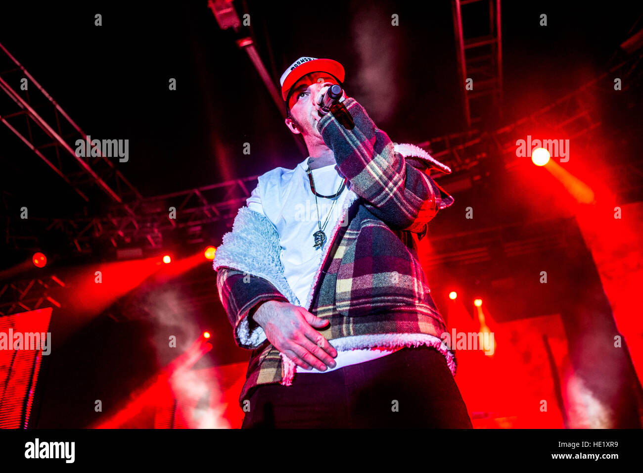 Milano, Italy. 15th Dec, 2016. Italian rapper Salmo performs live at Fabrique. © Mairo Cinquetti/Pacific Press/Alamy Stock Photo