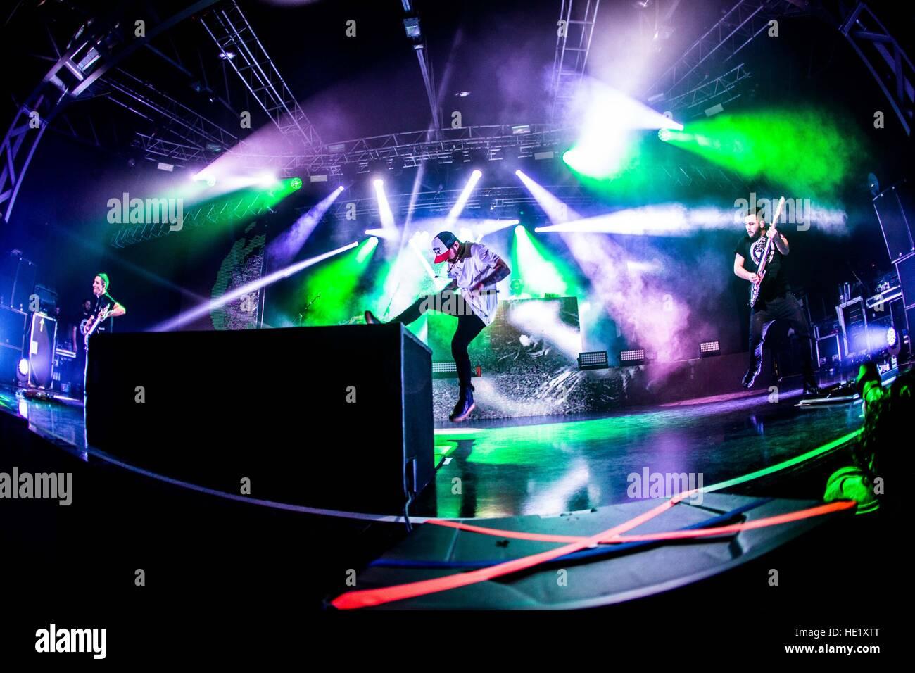 Milano, Italy. 15th Dec, 2016. Italian rapper Salmo performs live at Fabrique. © Mairo Cinquetti/Pacific Press/Alamy Stock Photo