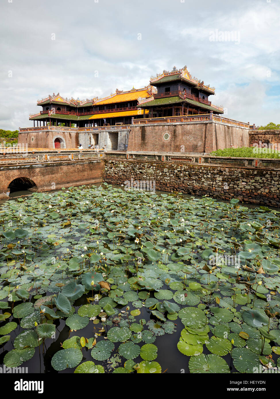 The Noon Gate (Ngo Mon). Imperial City, Hue, Vietnam. - Stock Image