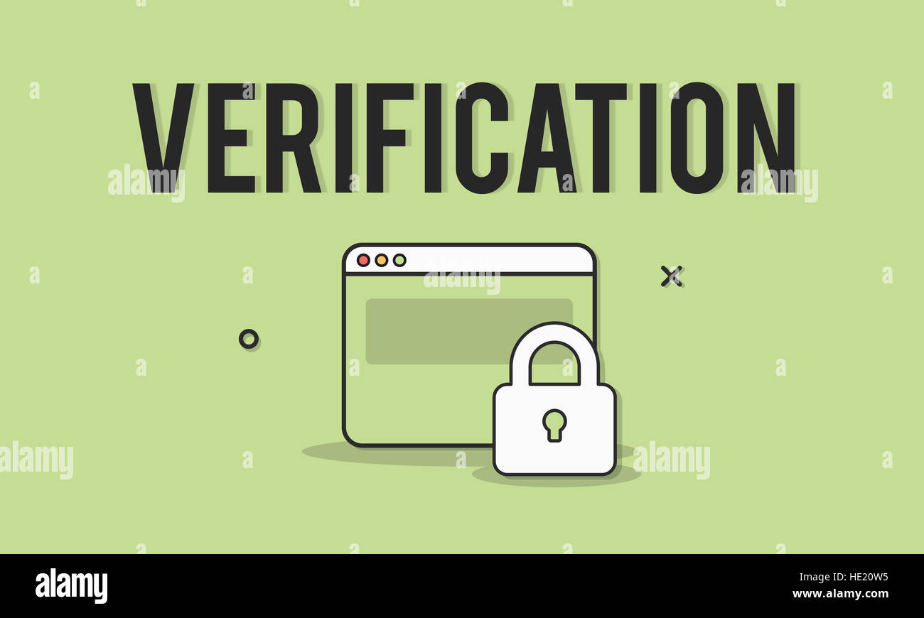 Authorize Protected Verification Privacy Security Concept - Stock Image