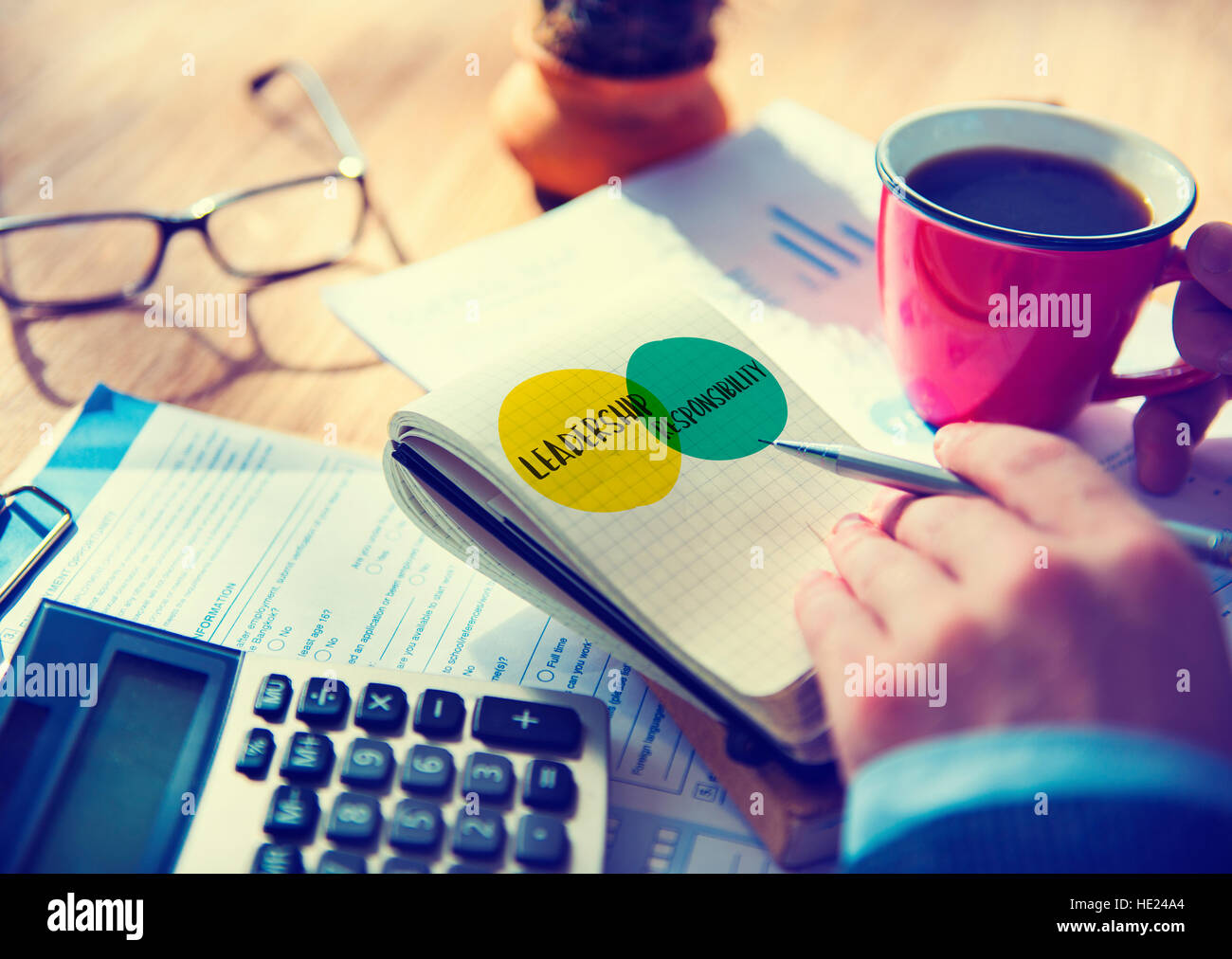 Leadership Goals Ideas Motivation Circles Concept - Stock Image