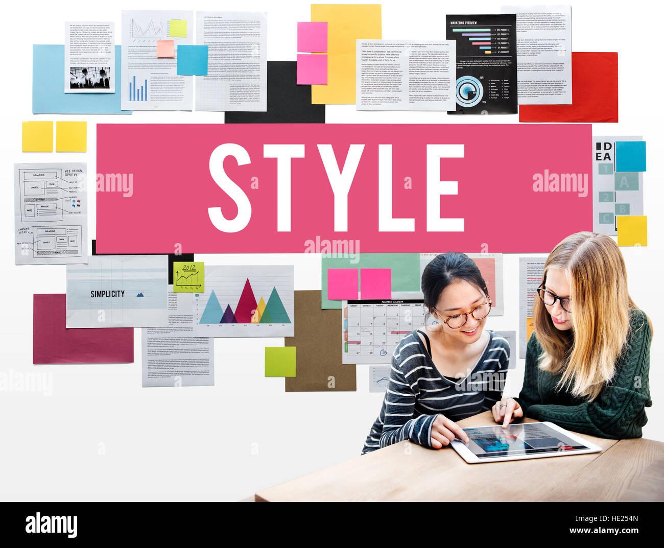 Style Fashionable Design Trendy Posh Concept - Stock Image